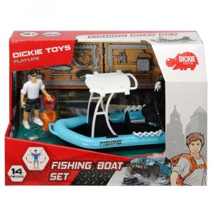 Barca de pescuit Dickie Toys Playlife cu figurina si accesorii5