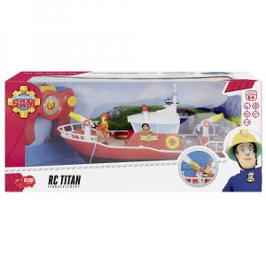 Barca Dickie Toys Fireman Sam Titan cu telecomanda si figurina Sam [8]