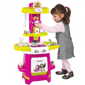 Bucatarie Smoby Masha and The Bear Cooky roz cu verde [3]