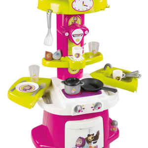Bucatarie Smoby Masha and The Bear Cooky roz cu verde [1]