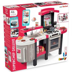 Bucatarie Smoby Tefal Super Chef Deluxe cu grill si aparat de cafea8