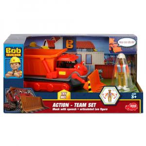 Buldozer Dickie Toys Bob Constructorul Action Team Muck cu 1 figurina Leo [6]
