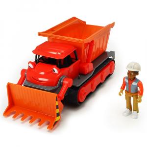 Buldozer Dickie Toys Bob Constructorul Action Team Muck cu 1 figurina Leo [0]