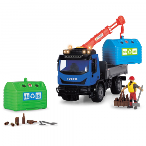 Camion Dickie Toys Playlife Iveco Recycling Container Set cu figurina si accesorii [1]
