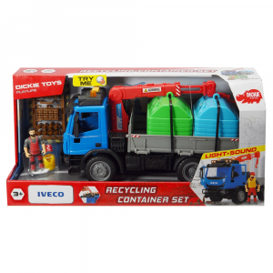 Camion Dickie Toys Playlife Iveco Recycling Container Set cu figurina si accesorii [6]