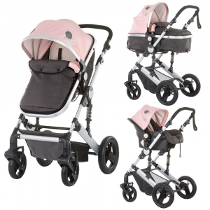 Carucior Chipolino Terra 3 in 1 rose pink0