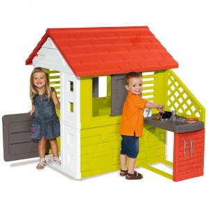 Casuta cu bucatarie pentru copii Smoby Nature1