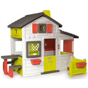 Casuta pentru copii Smoby Friends Playhouse cu gradina [0]