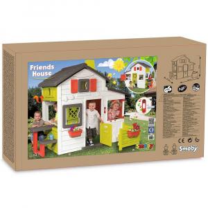 Casuta pentru copii Smoby Friends Playhouse cu gradina [7]
