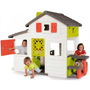 Casuta pentru copii Smoby Friends Playhouse cu gradina [5]