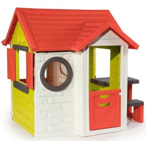 Casuta pentru copii Smoby My House cu masuta picnic1