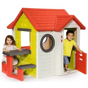 Casuta pentru copii Smoby My House cu masuta picnic2