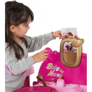 Centru de ingrijire pentru papusi Smoby Baby Nurse Doll`s Play Center roz cu 23 accesorii [4]