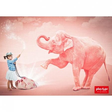 Covor joaca si organizator jucarii Elefant roz [2]