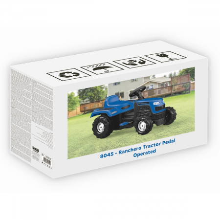 DOLU Tractor cu pedale - albastru1
