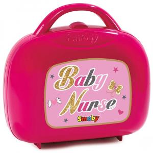 Gentuta pentru ingrijire papusi Smoby Baby Nurse roz1