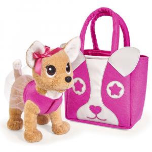Jucarie de plus Simba Catel Chi Chi Love Puppy 20 cm cu geanta0