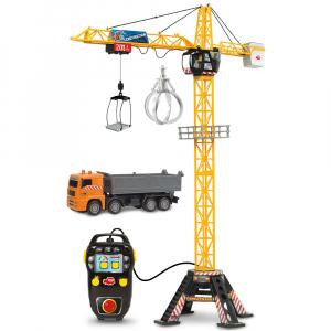 Jucarie Dickie Toys Macara Mega Crane cu camion si telecomanda0