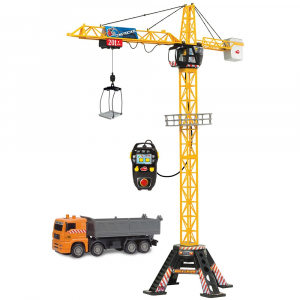 Jucarie Dickie Toys Macara Mega Crane cu camion si telecomanda2