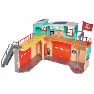 Jucarie Dickie Toys Statie de pompieri Fireman Sam cu figurina si accesorii4