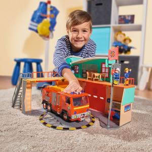 Jucarie Dickie Toys Statie de pompieri Fireman Sam cu figurina si accesorii21