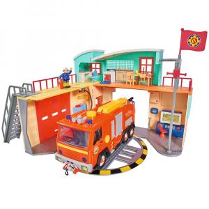 Jucarie Dickie Toys Statie de pompieri Fireman Sam cu figurina si accesorii8