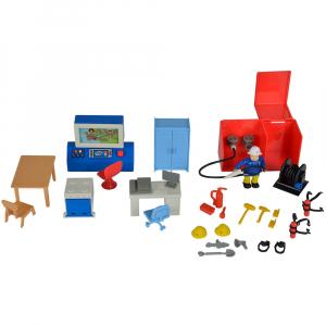 Jucarie Dickie Toys Statie de pompieri Fireman Sam cu figurina si accesorii1