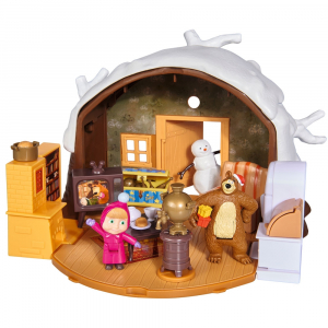 Jucarie Simba Masha and the Bear Winter Bear's House0