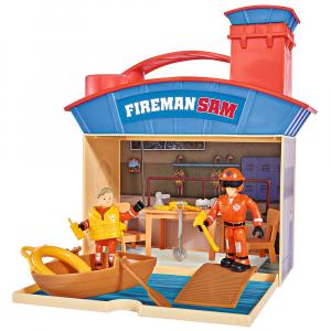 Jucarie Simba Statie salvamar Ocean Rescue Fireman Sam Wasserwacht cu 2 figurine si accesorii [0]