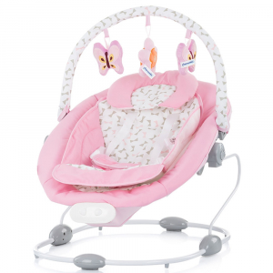 Leagan electric si balansoar Chipolino Paradise pink ribbon1