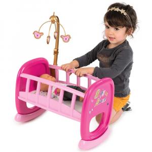 Leagan pentru papusa Smoby Baby Nurse roz cu carusel [1]