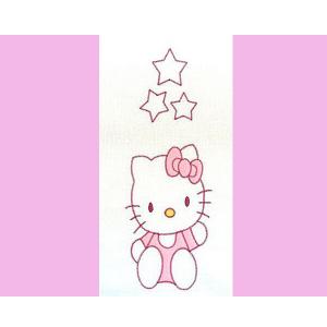 Lenjerie patut cu broderie Hubners Kitty 4 piese roz1