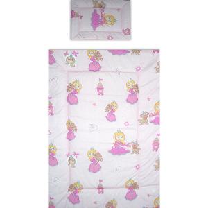Lenjerie patut Hubners Printesa cu Ursulet 4 piese roz [2]