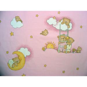 Lenjerie patut Hubners Ursulet Somn Usor 4 piese roz1