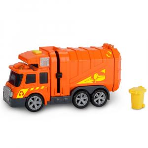 Masina de gunoi Dickie Toys Mini Action Series City Cleaner portocaliu [0]