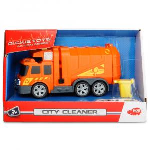 Masina de gunoi Dickie Toys Mini Action Series City Cleaner portocaliu3