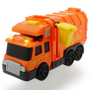 Masina de gunoi Dickie Toys Mini Action Series City Cleaner portocaliu2