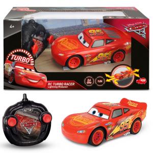 Masina Dickie Toys Cars 3 Turbo Racer Lightning McQueen cu telecomanda [2]