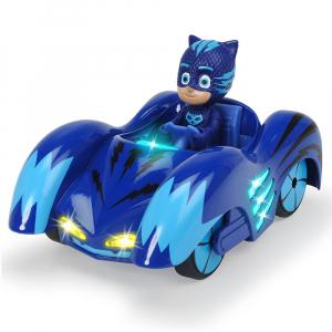Masina Dickie Toys Eroi in Pijama Mission Racer Cat-Car cu figurina0