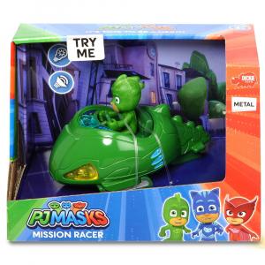 Masina Dickie Toys Eroi in Pijama Mission Racer Gekko cu figurina1