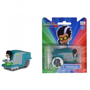 Masina Dickie Toys Eroi in Pijama Romeo's Lab cu figurina2