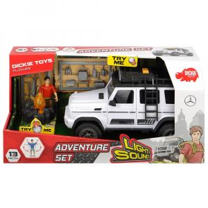 Masina Dickie Toys Playlife Adventure Set cu figurina si accesorii8