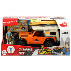 Masina Dickie Toys Playlife Camping Set cu figurina si accesorii [6]