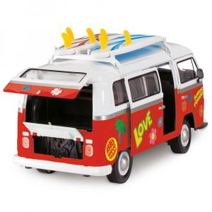 Masina Dickie Toys Volkswagen Surfer Van cu accesorii2