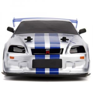 Masina Jada Toys Fast and Furious Nissan Skyline GTR Drift cu anvelope si telecomanda1