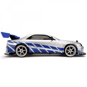 Masina Jada Toys Fast and Furious Nissan Skyline GTR Drift cu anvelope si telecomanda5