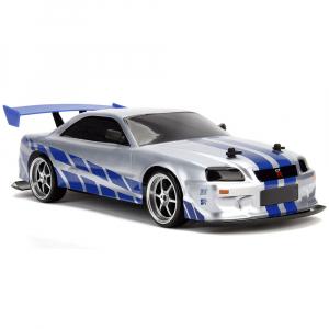 Masina Jada Toys Fast and Furious Nissan Skyline GTR Drift cu anvelope si telecomanda6