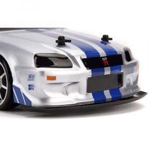 Masina Jada Toys Fast and Furious Nissan Skyline GTR Drift cu anvelope si telecomanda13