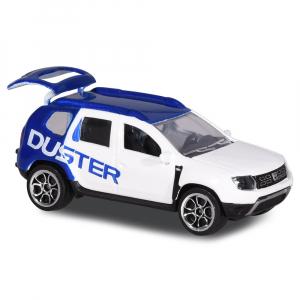 Masina Majorette Dacia Duster alb cu albastru0