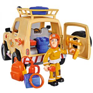 Masina Simba Fireman Sam Tom's 4x4 cu 1 figurina si accesorii [0]